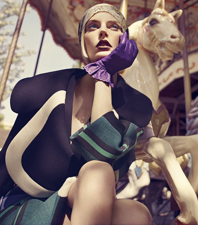Auguste Abeliunaite by Luis Monteiro for Vogue Portugal September 2011   #fashion #photography
