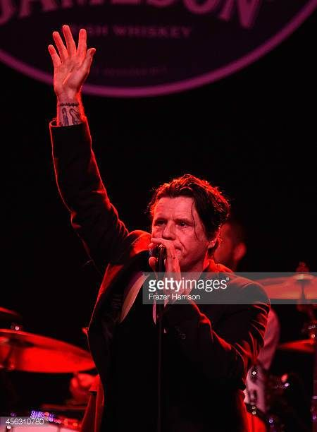 Musician Ian Astbury performs at theThe Best Fest Presents GEORGE FEST An Evening To Celebrate The Music Of George Harrison at The Fonda Theatre on...