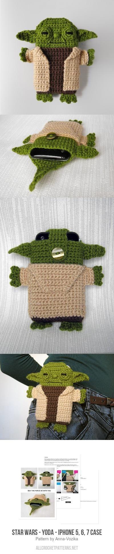 Star Wars - Yoda - iPhone 5, 6, 7 case crochet pattern