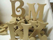 MDF WOODEN LETTERS A-Z  Large 155mm High 18mm Thick . VICTORIAN Font