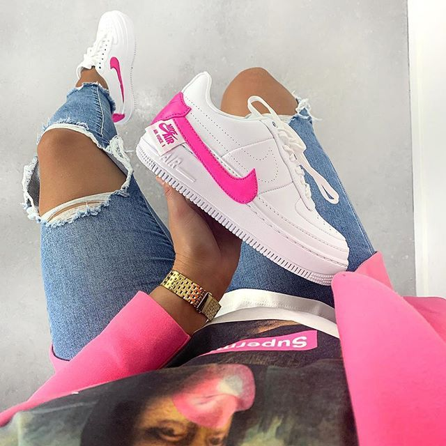 basket nike air force 1 fille rose