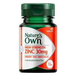 Buy Nature's Own High Strength Zinc 30mg 60 tablets Online | Priceline