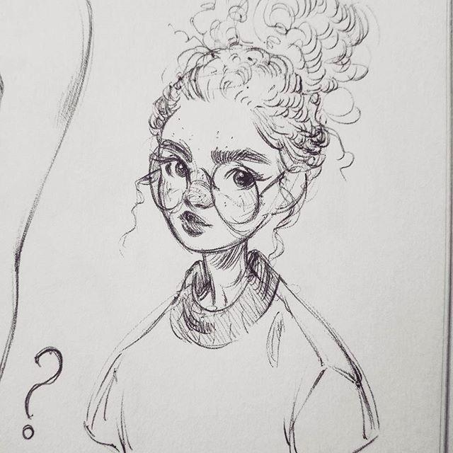 Miss Fluffy Bun * * * #art #drawing #sketch #sketchbook #sketchy #blackandwhite #monochrome #ink #inkdrawing #pen #ballpointpen #portrait – Nayara Victorio – Lena Weis