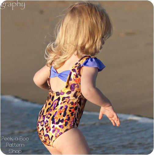 Sun n' Fun: Girls Swimsuit PDF Pattern, Girls Leotard PDF Pattern, Baby & Toddler Swimsuit Pattern