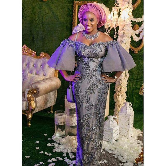 Nigerian Wedding Guest Styles 2017 Nigerian Wedding Guest Styles 2018 Nigerian Wedding Aso African Evening Dresses African Fashion Dresses African Lace Dresses
