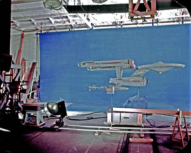 Restored Image from 35mm film clip of  Enterprise and Botany Bay by birdofthegalaxy, via Flickr