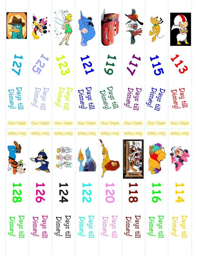 Disney Countdown Ring