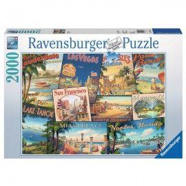 Vintage Képeslapok, Ravensburger puzzle 2000 db