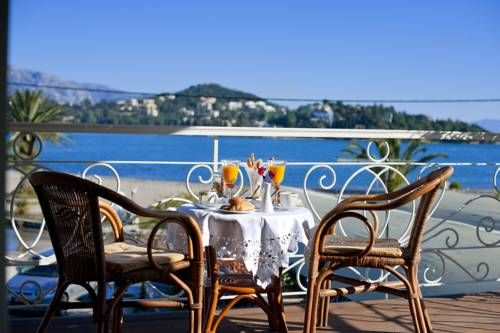 Villa Molfetta Beach Gouvi� Villa Molfetta Beach is a holiday home with a sun terrace, set in Gouvia. The property boasts views of the sea and is 8 km from Corfu Town. Free WiFi is available throughout the property.