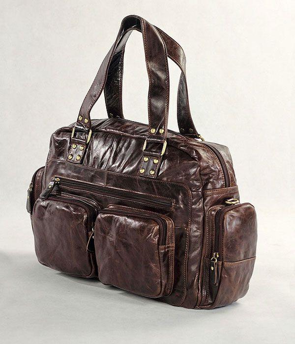 Wisel Mørkebrun Lædertaske - 1.599,00kr