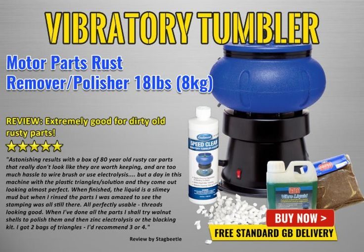 BACK IN STOCK: Vibratory Tumbler – Motor Parts Rust Remover / Polisher 18lbs (8kg).