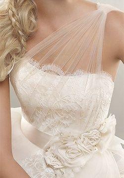Alvina Valenta. Beautiful idea for taking a strapless & adding more fabric!