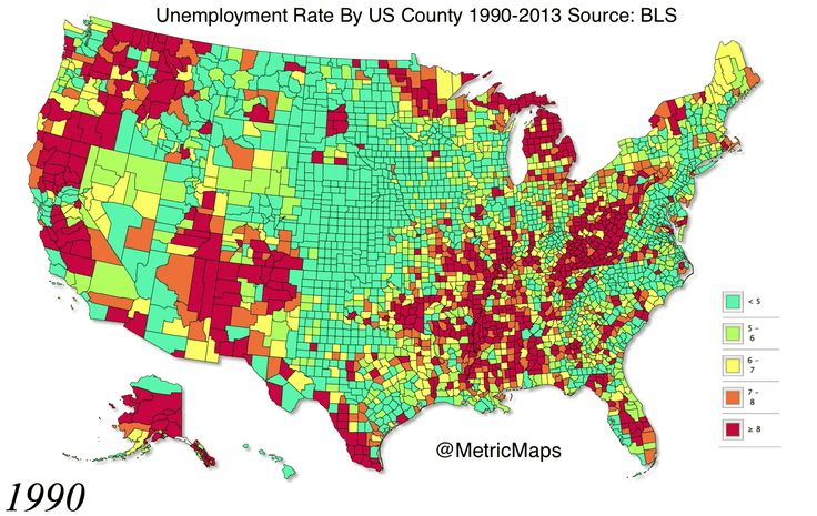 24 Years Of America's Unemployment Rate In 10 Seconds====The 2009 financial crisis wreaked havoc on American workers.