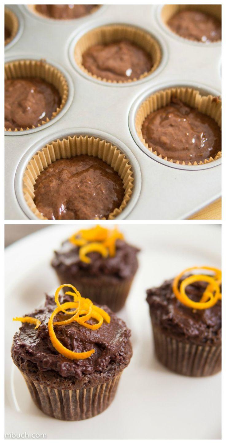 Orange-Ginger Chocolate Cupcakes | Vegan chocolate ...
