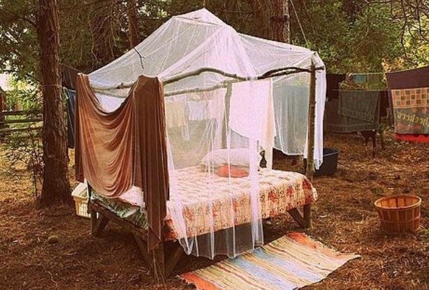 Kasia ☮ Outdoor beds, Canopy bedroom, Bed