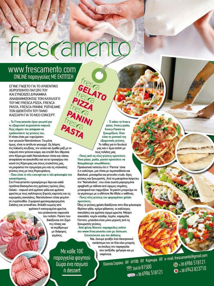 Greece 2017 advertisment for Frescamento in Corfu publising in Ciao magazine