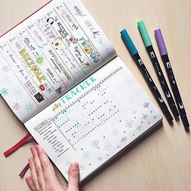 Planner tracker using @tombowusa Dual Brush Pens