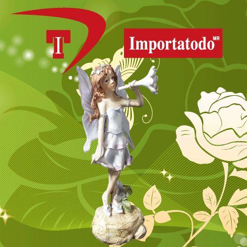 Figura Decorativa Hada elaborada en Poliresina marca TRENTINO. Modelo 45-629