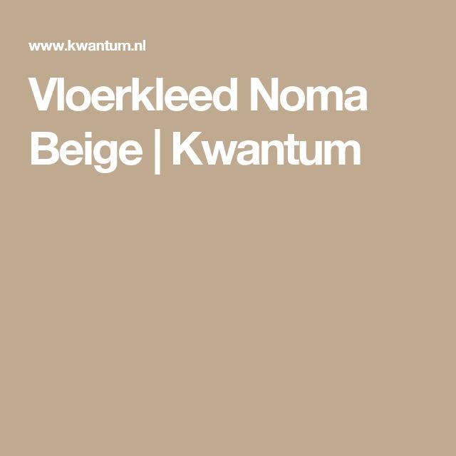 Vloerkleed Noma Beige | Kwantum