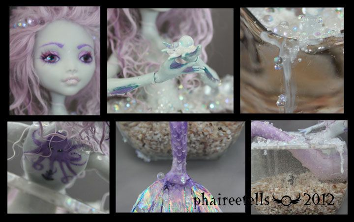 MH monster high repaint Lagoona Mermaid details by ~phairee004 on deviantART