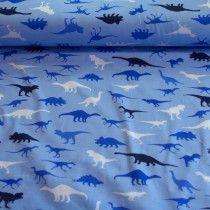 Kimi dino - blauw - tricot