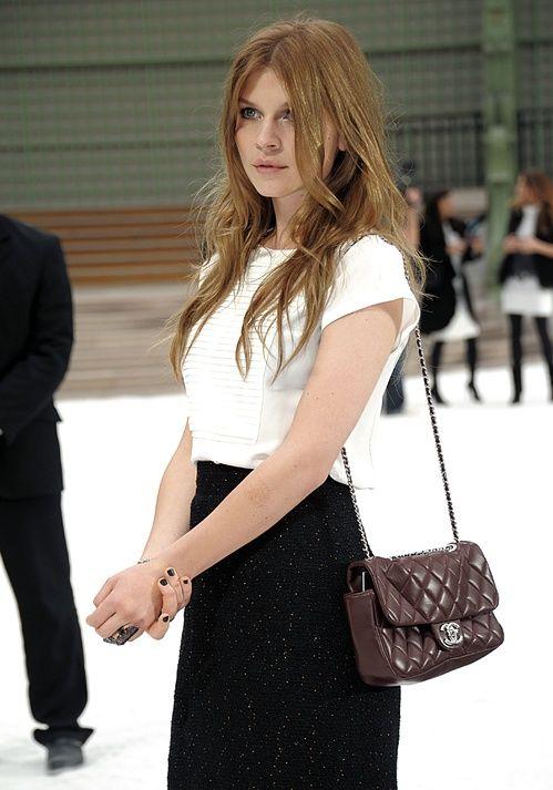 Clémence Poésy au défilé Chanel