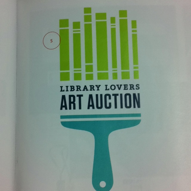 Library art auction logo | The Infantree for Lancaster Public Library