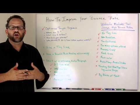 How To Improve Your Websites Bounce Rate - YouTube  You want people to stay on your website, here are some ways to make that happen.