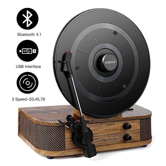 Vintage Turntable Vinyl Record Player Abox Bluetooth Turntable With Dual Built In Stereo Speakers Sys Vertical Vinyl Player Vinyl Record Player Vinyl Player
