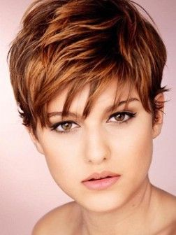 Funky short hair style...Love it!!!