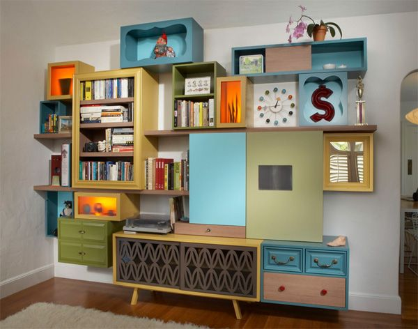 Awesome Retro Mid Century Modern Style Shelving And Storage Space