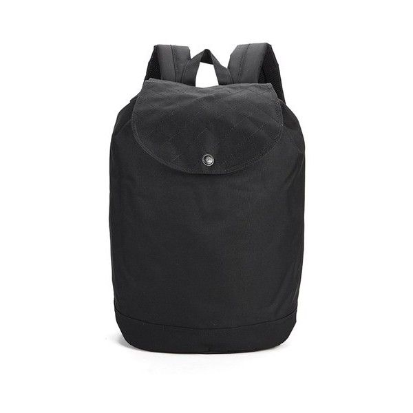 Herschel Supply Co. Reid Quilted Backpack (640 SEK) ❤ liked on Polyvore featuring bags, backpacks, black backpack, black quilted bag, rucksack bag, black quilted backpack and quilted bag