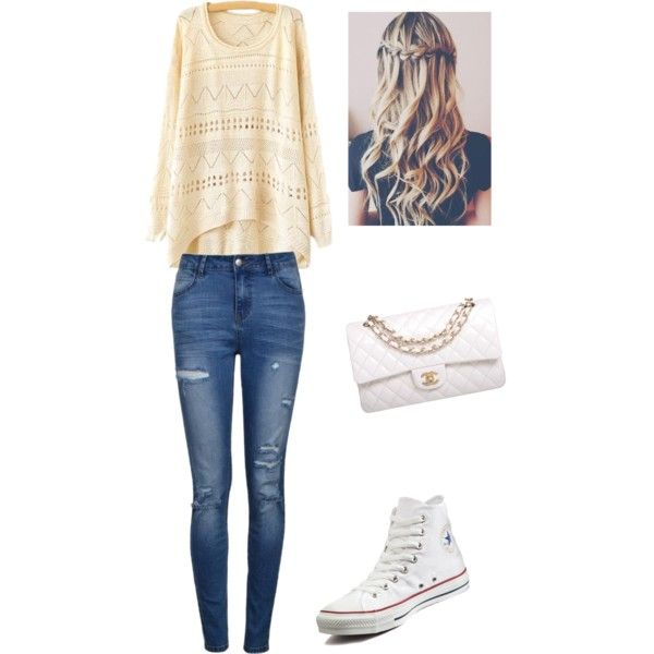 beating heart by Mirjam on Polyvore featuring polyvore fashion style Ally Fashion Converse Chanel