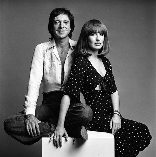 Ramses Shaffy and Liesbeth List - Dutch singers. Photo by Paul Huf, 1975