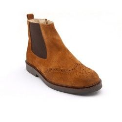Tan Suede Boys Zip-up Classics Children's Boots