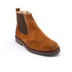 Tan Suede Boys Zip-up Classics Children's Boots