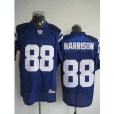 Colts #88 Marvin Harrison Blue Stitched NFL Jersey