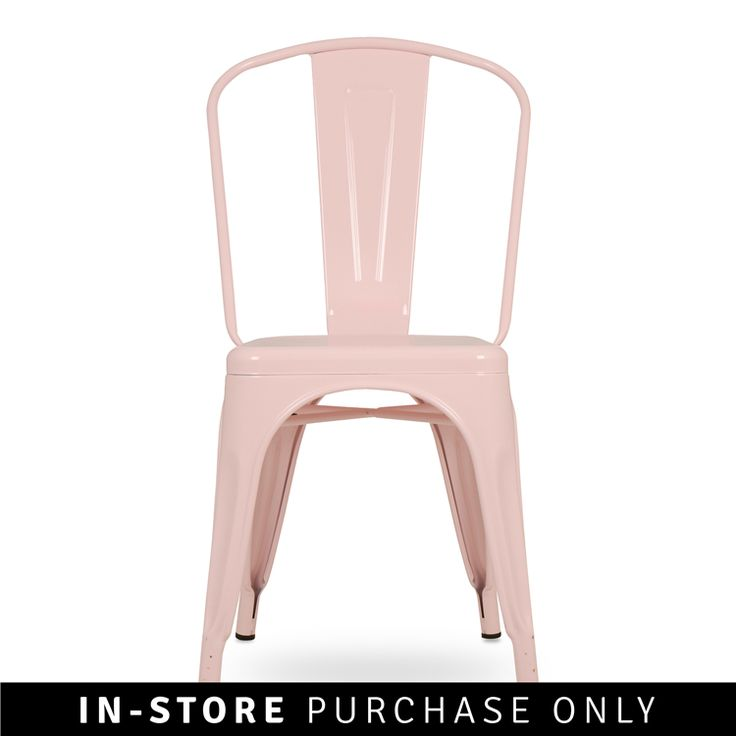 industrial dining chair blush