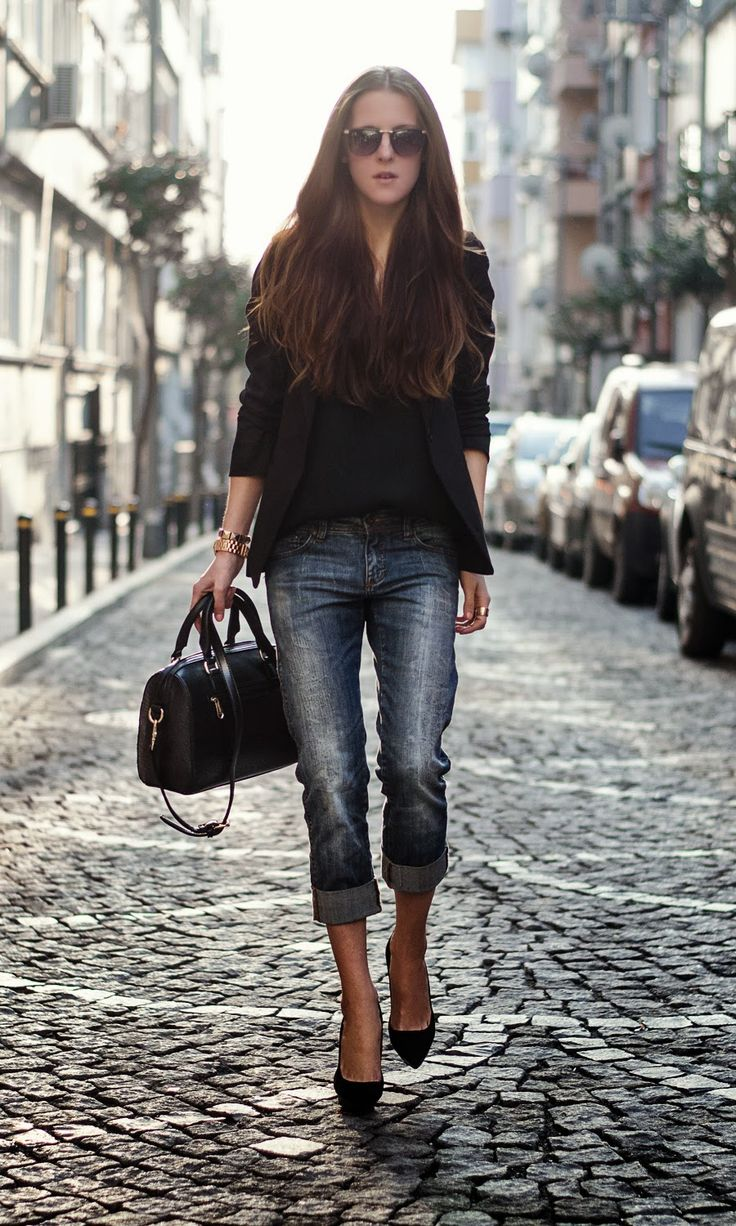 Black blazer outfit, street style blogger, neon rock by katerina kraynova, fashion blogger 2013, mango heels, boyfriend cut jeans, ootd, details, michael kors, sheinside blazer, persunmall bag
