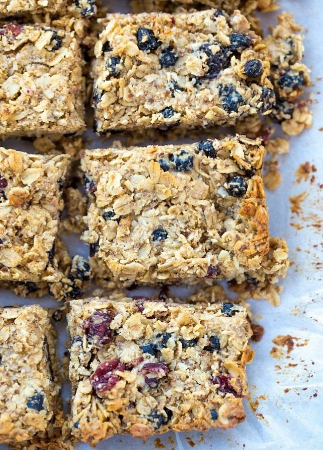 15 breakfast bar recipes, like Berry Chia Breakfast Bars, to grab and go on weekday mornings.