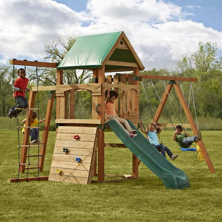 bring the city park to your backyard with this play set featuring a slide monkey bars and. Black Bedroom Furniture Sets. Home Design Ideas