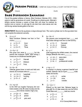 64 best Education-Algebra 1-Slope Int Form images on Pinterest ...