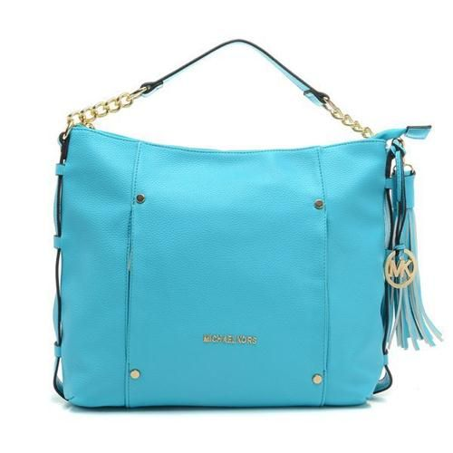 michael kor outlet online havn  Welcome To Our Michael Kors Leigh Stud Large Blue Shoulder Bags Online Store