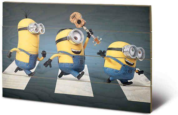 Posters Obraz na dřevě - Já, padouch - Abbey Road, (59 x 40 cm