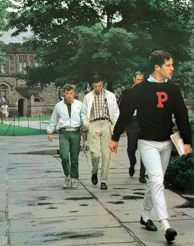 Pinner says: tartan plaids became popular 1950s fashion for men. Khaki-colored trousers, called chinos, were worn for casual wear.