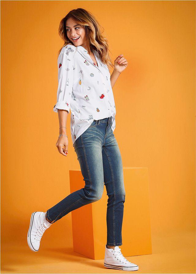Bluzka Luźniejsza bluzka zdobiona • 74.99 zł • bonprix