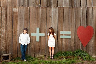 Cute idea for engagement pics!
