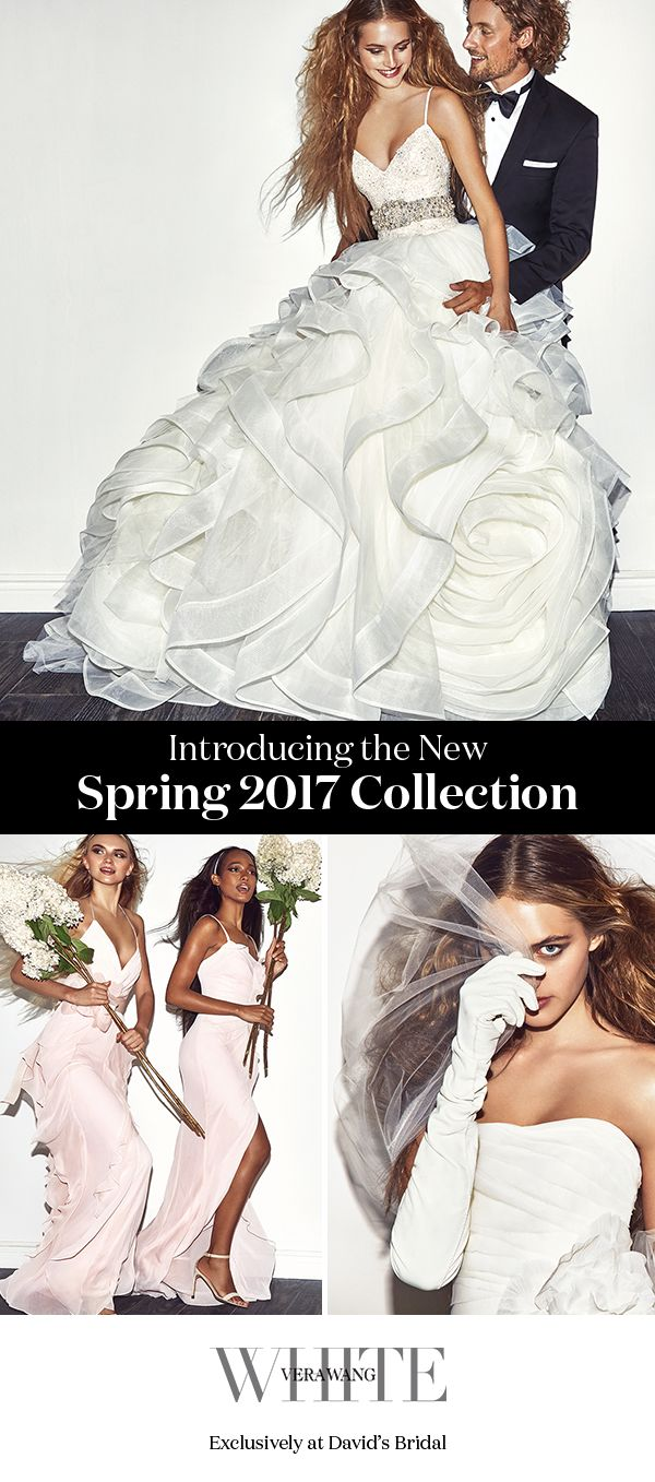 Created for the modern bride by iconic designer Vera Wang, the White by Vera Wang collection at David's Bridal delivers aspirational wedding gowns, bridesmaid dresses, and accessories at prices that turn wedding dreams into reality.