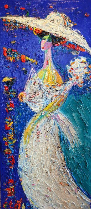 """""""Нежная дама"""", 2015,  х.м., 112х43, 55 т.р. Всматриваясь в картину хочется отгадать тайные мысли, прекрасной дамы. Её трогательная утонченность завораживает."""