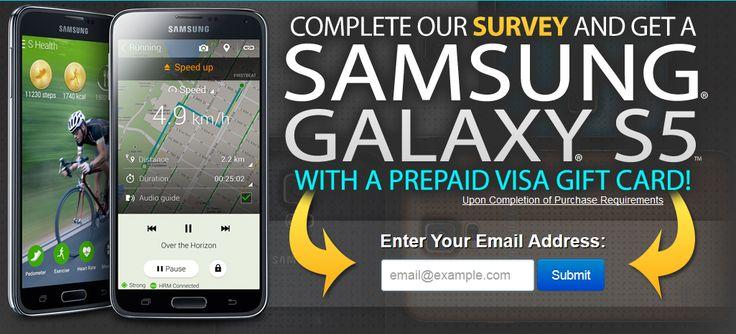 GET A FREE SAMSUNG GALAXY S5